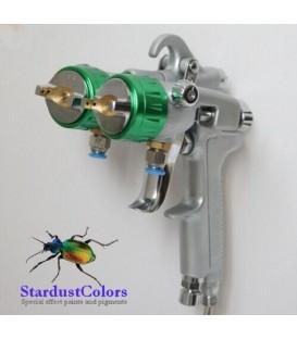 Spuitpistool met dubbel mondstuk voor verchroming SAT1189