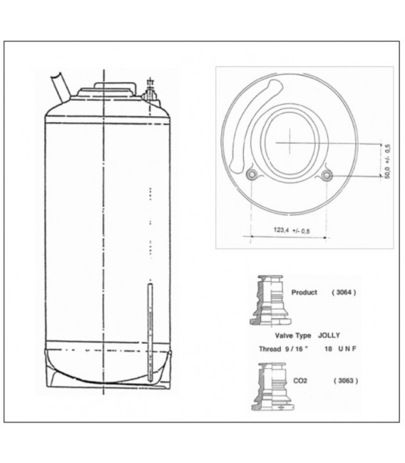 Tanks in Inox 9 L of 18 L