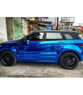 Wikkelfilm Blauw Chroom premiumkwaliteit OEM voor auto's - rol 1.52 m x 18 m