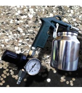 Zandstraal pistool hoge kwaliteit met manometer om de druk te regelen