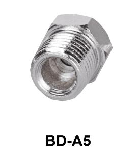 """Adapter koppeling voor schroefdraad van 1/4"""" naar 1/8"""""""