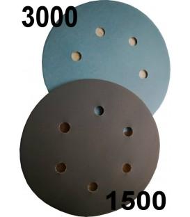 5 Velcro-schuurschijven, korrel 1500 of 3000