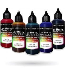 Serie Candy – 5 transparante Acryl-PU kleuren voor airbrush