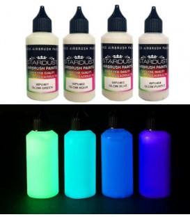 Serie Glow – 4 acryl-PU fosforescerende verven voor airbrush