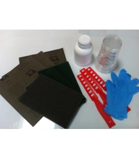 Gereedschapsset voor toepassing van epoxyhars