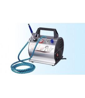 Complete set - Compressor, airbrush, luchtslang