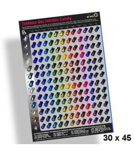 Poster 30x45cm tabel met de Candy verven