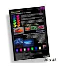 Poster 30x45cm Fluorescente verven