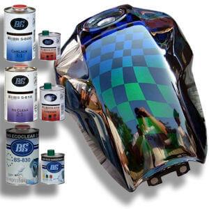 lakken met speciale effecten chroomeffecten iriserende lakken autovernissen. Black Bedroom Furniture Sets. Home Design Ideas